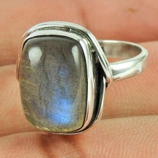 Classic Labradorite Gemstone Sterling Silver Antique Ring 925 Sterling Silver Jewellery