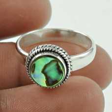 Stunning Abalone Shell Sterling Silver Ring 925 Silver Jewellery