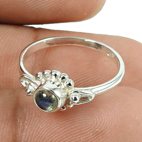 Beautiful Labradorite Gemstone 925 Sterling Silver Ring Handmade Jewellery