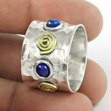 Amazing ! Lapis Gemstone 925 Sterling Silver Ring