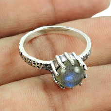 Charming Labradorite Gemstone Sterling Silver Ring Wholesale 925 Sterling Silver Vintage Jewellery
