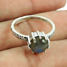 Fashion Labradorite Gemstone Sterling Silver Ring Manufacturer of 925 Silver Antique Jewellery