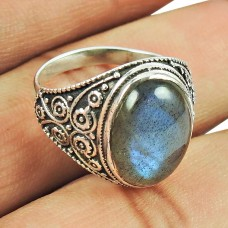 Possessing Good Fortune Labradorite Gemstone Sterling Silver Ring 925 Silver Indian Jewellery Supplier