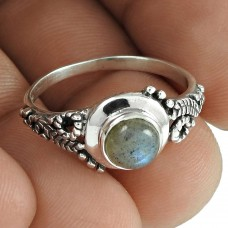 Personable Labradorite Gemstone Sterling Silver Ring 925 Silver Gemstone Jewellery