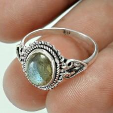 Pleasing Labradorite Gemstone Sterling Silver Ring Manufacturer 925 Sterling Silver Jewellery