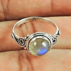 Fashion Labradorite Gemstone Ring 925 Sterling Silver Antique Jewellery