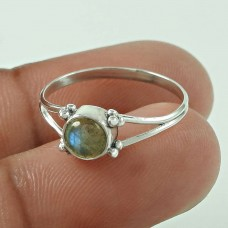 Well-Favoured Labradorite Sterling Silver Ring 925 Sterling Silver Jewellery