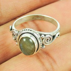 Stunning Labradorite Gemstone Sterling Silver Ring 925 Silver Jewellery Wholesaler India
