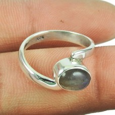 Good Fortune Labradorite Gemstone Sterling Silver Ring 925 Silver Indian Jewellery