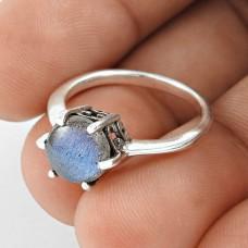 Large Fashion ! Labradorite Gemstone 925 Sterling Silver Ring