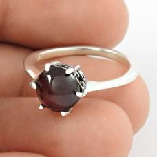 Precious ! Garnet Gemstone 925 Sterling Silver Ring Fabricant