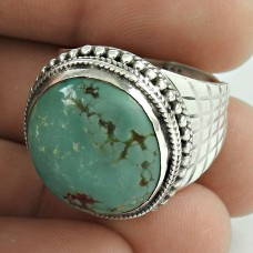 Sterling Silver Jewellery Beautiful Turquoise Gemstone Ring Manufacturer India