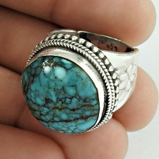 925 Sterling Silver Jewellery Charming Turquoise Gemstone Ring Manufacturer