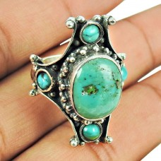 925 Sterling Silver Fashion Jewellery Tibetan Turquoise Ring Wholesaler India