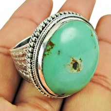 Sterling Silver Fashion Jewellery Rare Turquoise Gemstone Ring