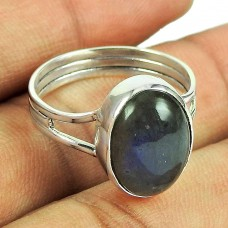 Indian Sterling Silver Jewellery Daily Wear Labradorite Gemstone Ring Wholesale Price