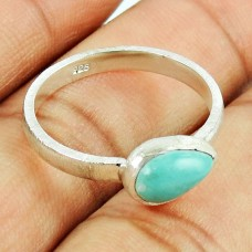 Sterling Silver Indian Jewellery Beautiful Turquoise Gemstone Ring Grossiste