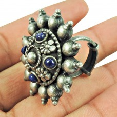 Sterling Silver Oxidised Jewellery Daily Wear Lapis Gemstone Fashion Ring