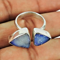 925 Silver Jewellery Trendy Druzy Ring Hersteller