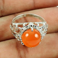Sterling Silver Jewellery Rare Carnelian Gemstone Ring Fabricant