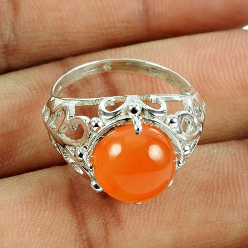 Sterling Silver Jewellery Rare Carnelian Gemstone Ring Fabricant