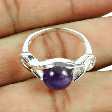 Wholesale 925 Sterling Silver Jewellery Beautiful Amethyst Gemstone Ring Manufacturer India