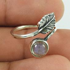Stylish Labradorite Gemstone 925 Sterling Silver Leaf Ring Ethnic Jewellery