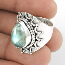 925 Sterling Silver !! Rainbow Moonstone Handmade Silver Jewellery Ring