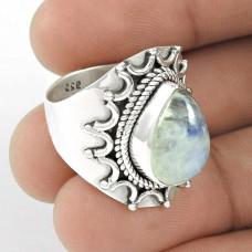 925 Sterling Silver Jewellery Traditional Rainbow Moonstone Ring Mayorista