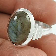 Rattling 925 Sterling Silver Labradorite Gemstone Ring Jewellery