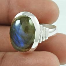 Amazing! 925 Silver Labradorite Gemstone Ring