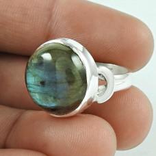 Love At First Sight Light! 925 Silver Labradorite Gemstone Ring Exporter