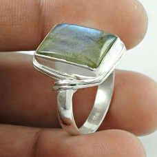 Natural! 925 Silver Labradorite Gemstone Ring Fabricante