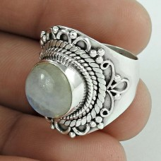 925 Sterling Silver Jewellery Rare Rainbow Moonstone Ring Fabricant