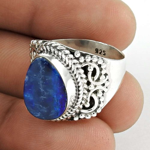 Party Wear 925 Sterling Silver Opal Gemstone Ring Ethnic Jewellery