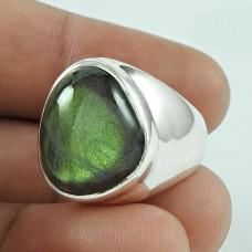 Big Natural! 925 Silver Labradorite Gemstone Ring Wholesaler