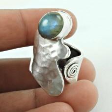 Kiss! 925 Silver Labradorite Gemstone Ring