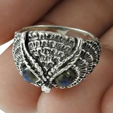 Labradorite Gemstone Ring 925 Sterling Silver Women Fashion Jewelry Fournisseur