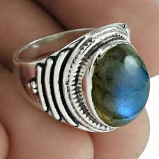 Labradorite Gemstone Ring 925 Sterling Silver Stylish Jewelry De gros