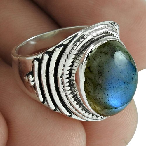 Labradorite Gemstone Ring 925 Sterling Silver Stylish Jewelry De gros