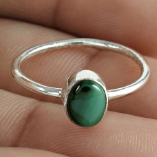 Scenic Malachite Gemstone 925 Sterling Silver Ring Wholesale Jewelry