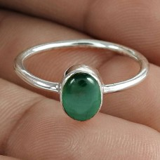 Graceful Malachite Gemstone 925 Sterling Silver Ring Jewelry