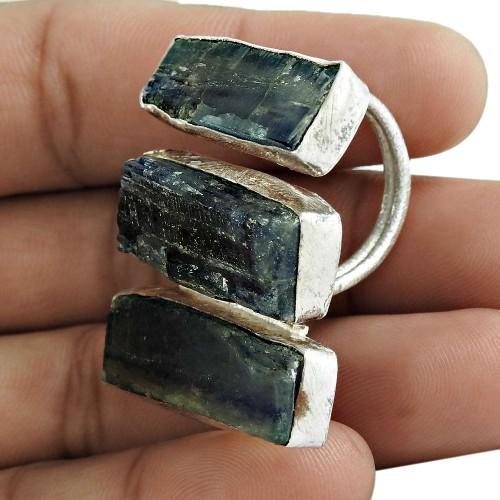 Kyanite Gemstone Ring 925 Sterling Silver Women Gift Jewelry