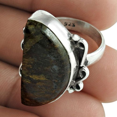 Jasper Gemstone Ring 925 Sterling Silver Ethnic Jewelry
