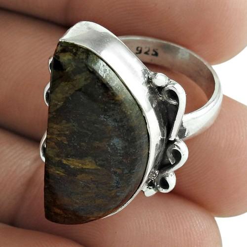 Jasper Gemstone Ring 925 Sterling Silver Ethnic Jewelry