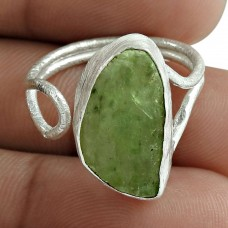 Prehnite Gemstone Ring 925 Sterling Silver Engagement Gift Jewelry