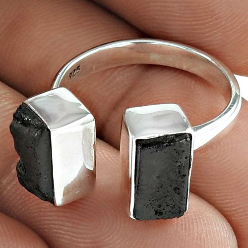 Healing Properties Lava Gemstone Ring 925 Sterling Silver Wedding Gift Jewelry
