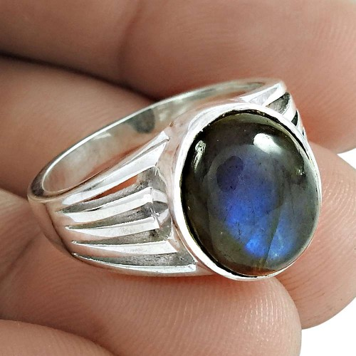 Labradorite Gemstone Ring 925 Sterling Silver Ethnic Jewelry Exporter India