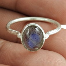 Labradorite Gemstone Ring 925 Sterling Silver Stylish Jewelry Mayorista