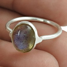 Labradorite Gemstone Ring 925 Sterling Silver Engagement Gift Jewelry Proveedor